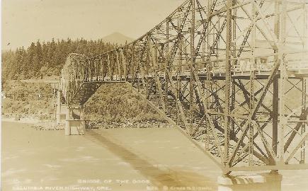 The modern day Bridge of the Gods, connecting Oregon and Washington.