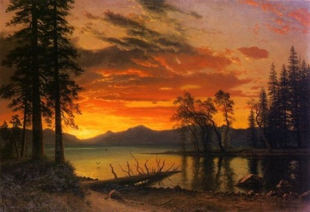 Art by Albert Bierstadt.