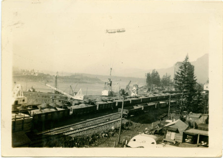 Construction of Bonneville dam, directly on top of my Ancestors old Village site.