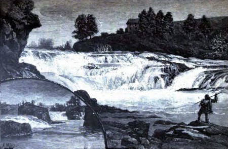 Artist rendering of Spokane Falls, 1888 from the book 'The Great Northwest.'