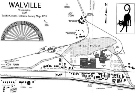 Old town map of Walville.