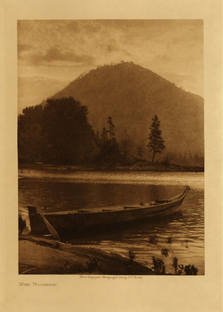 Auntie Virginia Miller's Canoe. Edward S. Curtis photo