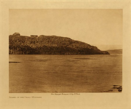 Island of the Dead (Wishram) Edward S. Curtis photo.