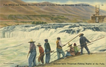 Celilo Falls, post card. ca. 1930