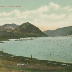 "Penny Postcard, ca.1910, ""Wind Mountain, Columbia River."""