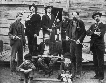 The Hatfield clan from the famous Hatfield and McCoy conflict.