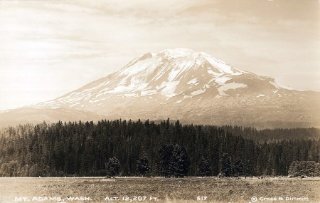Mt. Adams post card from the 1920's.