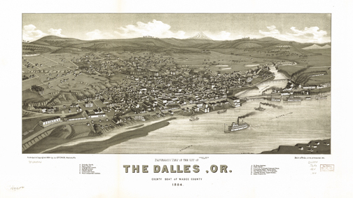 The Dalles, Oregon. ca. 1884